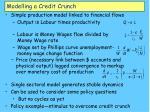 modelling a credit crunch