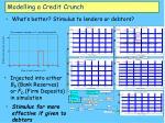 modelling a credit crunch24