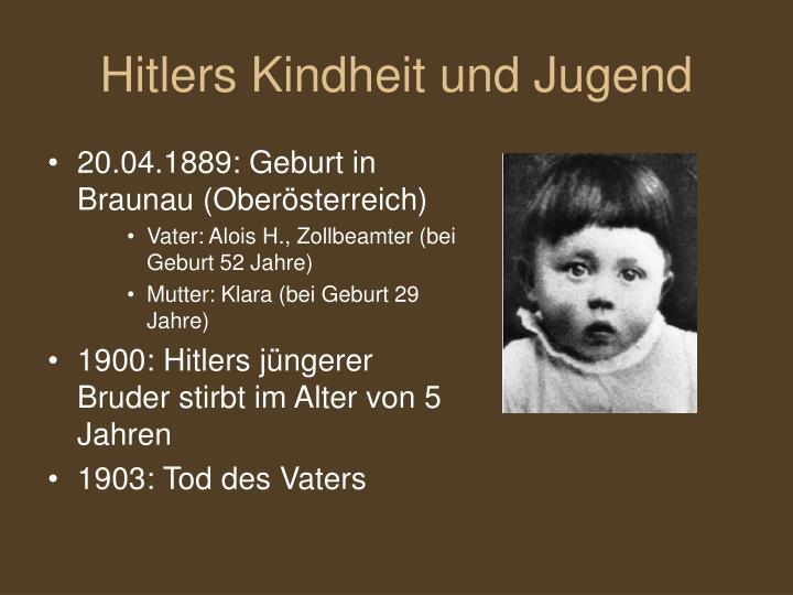 hitlers kindheit und jugend - Hitler Lebenslauf