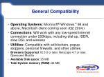 general compatibility