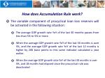 how does accumulation rule work