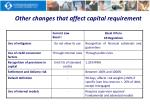 other changes that affect capital requirement