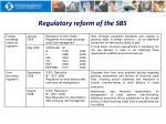 regulatory reform of the sbs