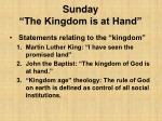 sunday the kingdom is at hand9