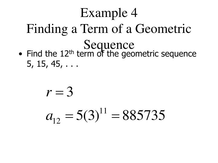 Ppt   Geometric Sequences And Series Powerpoint Presentation