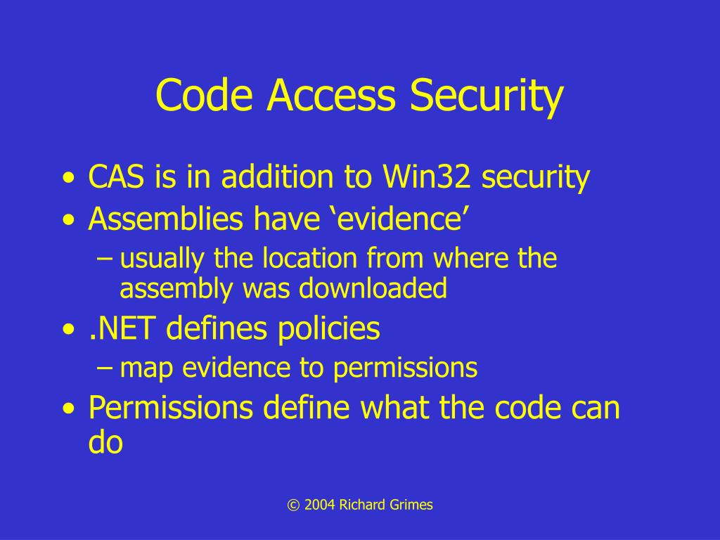 Code Access Security