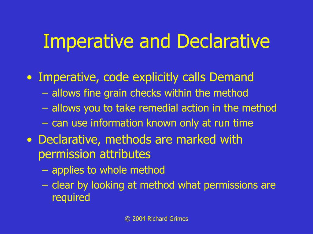 Imperative and Declarative