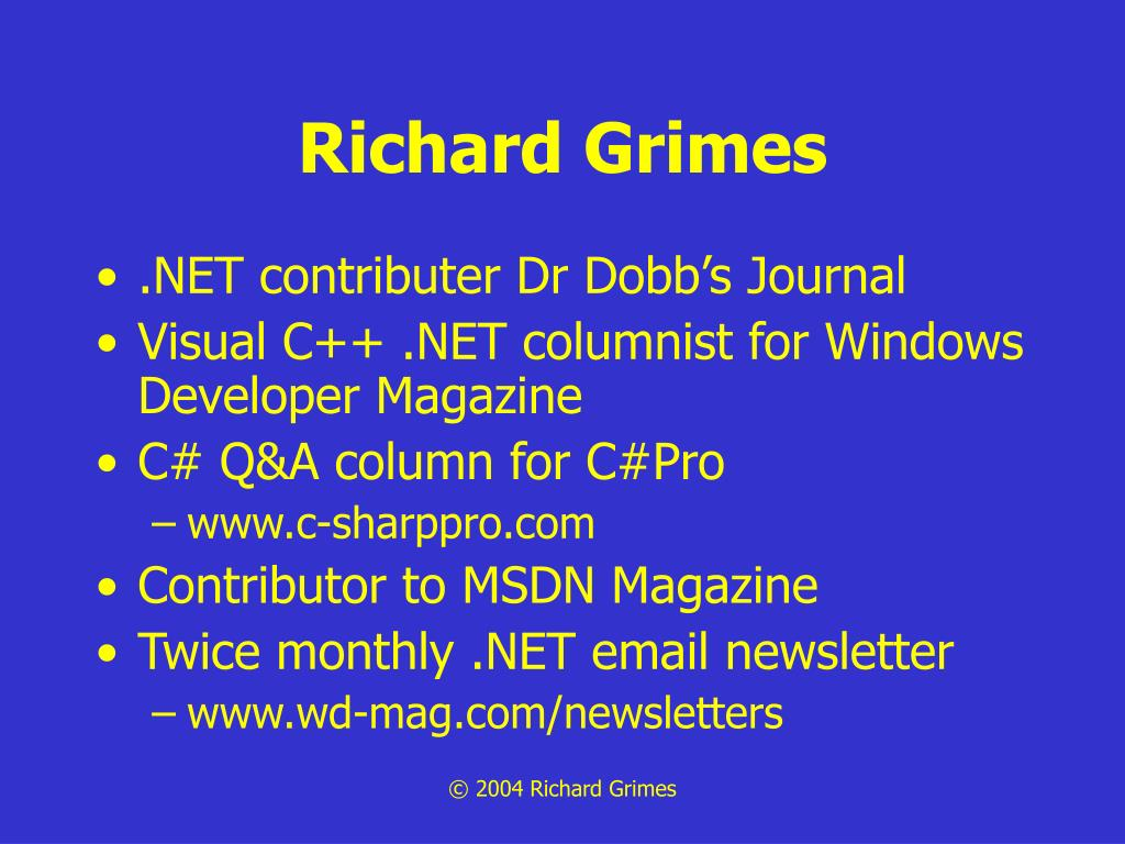 Richard Grimes