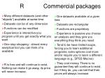 r commercial packages