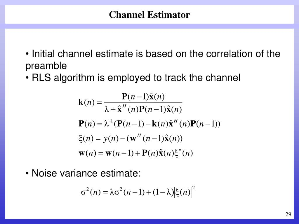 Channel Estimator
