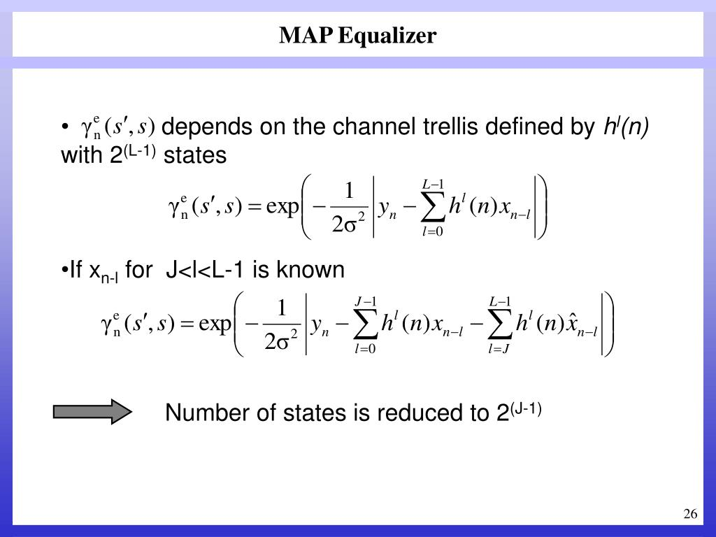 MAP Equalizer
