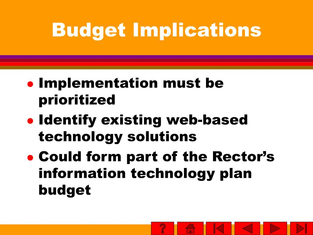 Budget Implications