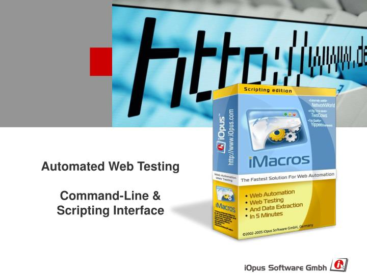 automated web testing command line scripting interface n.