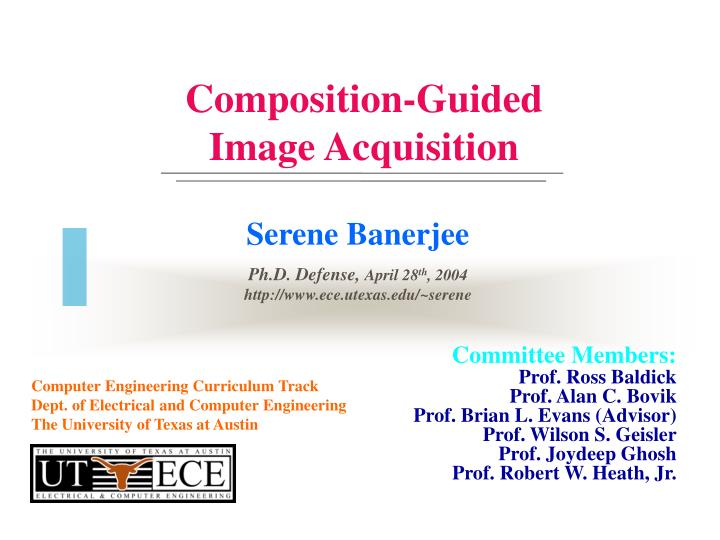 composition guided image acquisition n.