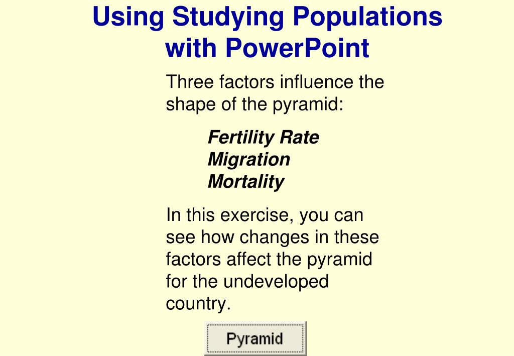 Using Studying Populations                  with PowerPoint