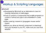 markup scripting languages41