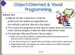 object oriented visual programming33