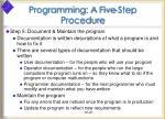 programming a five step procedure21