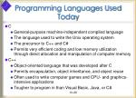 programming languages used today29