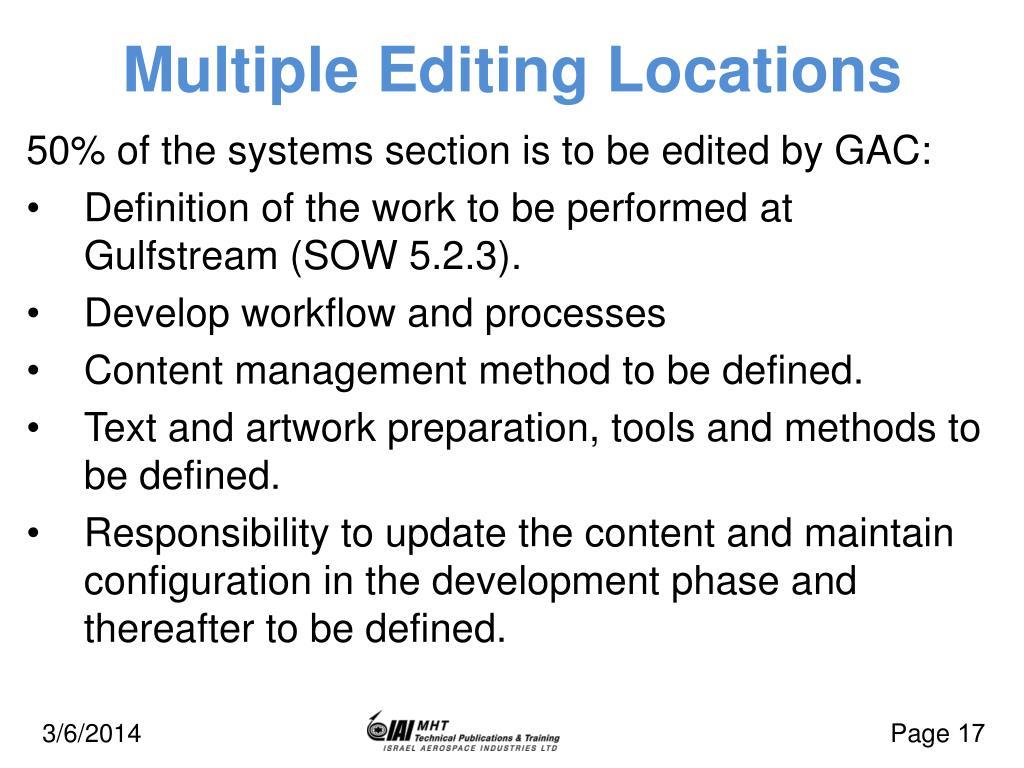 Multiple Editing Locations