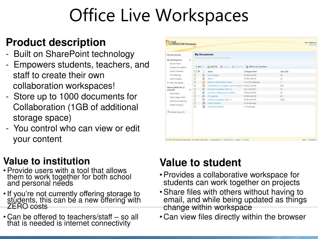 Office Live Workspaces