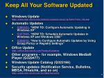 keep all your software updated