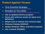 protect against viruses