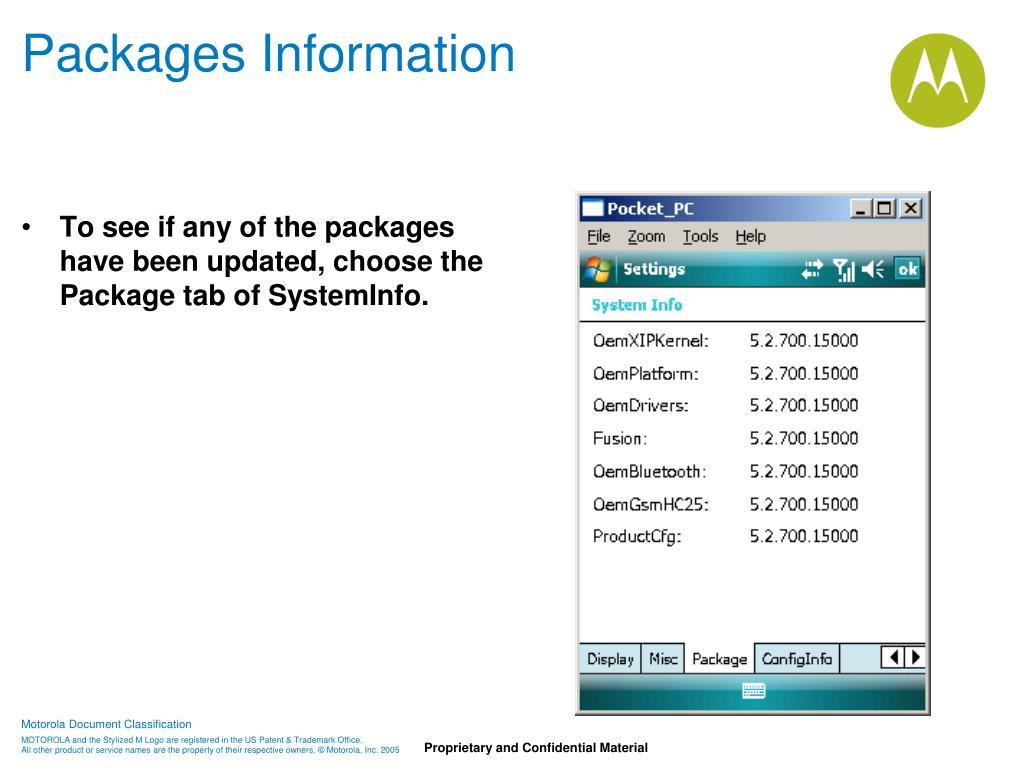 Packages Information