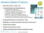 windows mobile 6 features