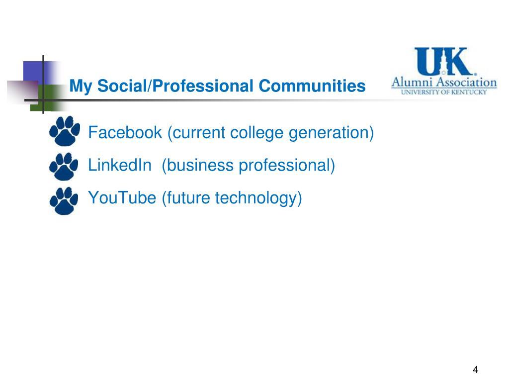 My Social/Professional Communities