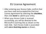 eu license agreement