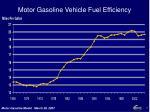 motor gasoline vehicle fuel efficiency