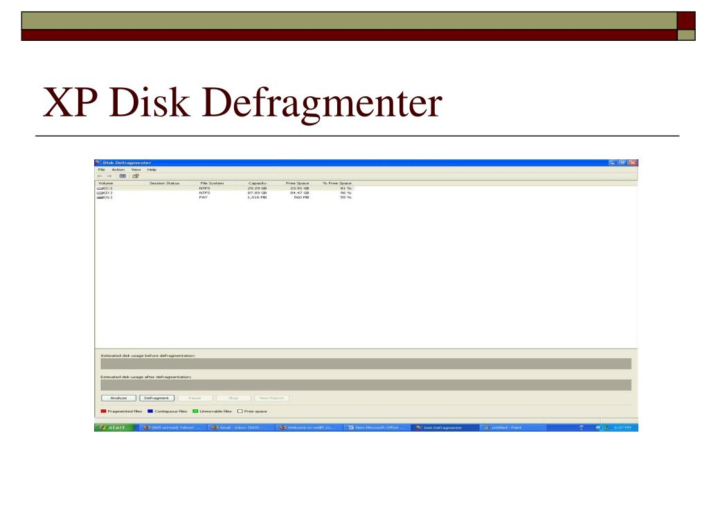 XP Disk Defragmenter