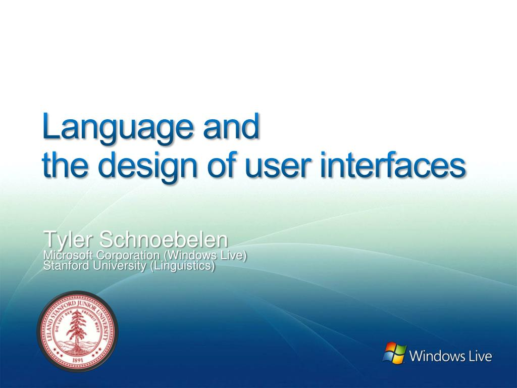 language and the design of user interfaces l.