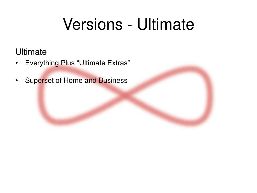 Versions - Ultimate
