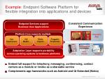example endpoint software platform for flexible integration into applications and devices
