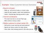 example video customer service scenarios