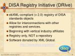 disa registry initiative drive27
