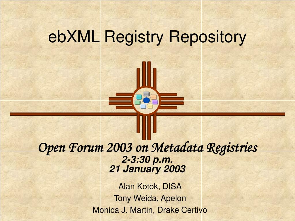 ebxml registry repository l.