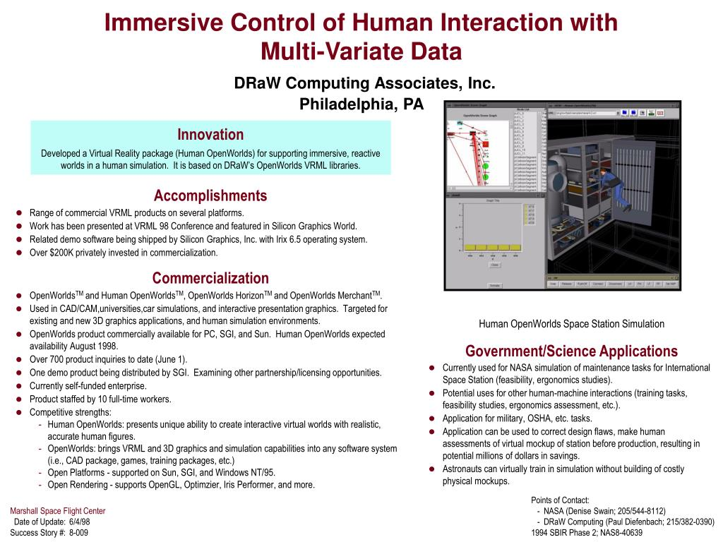 Immersive Control of Human Interaction with