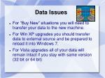 data issues