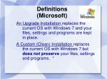 definitions microsoft