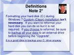 definitions note 2