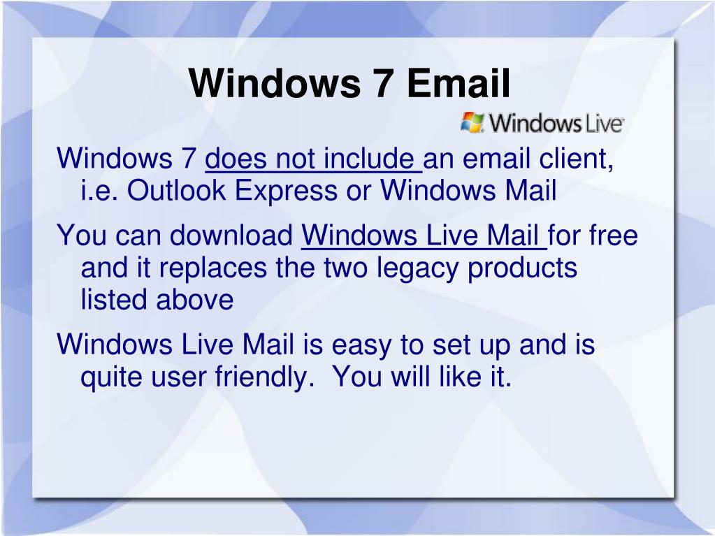 Windows 7 Email