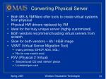 converting physical server