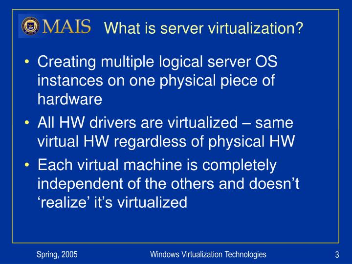 What is server virtualization