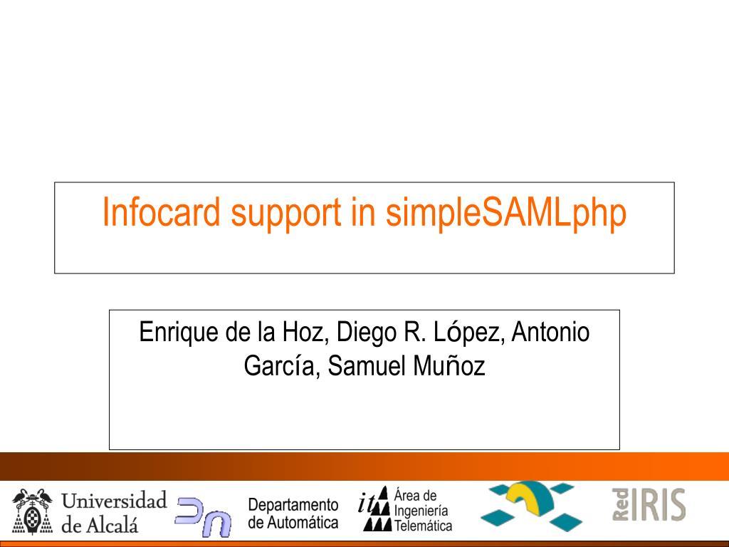 infocard support in simplesamlphp l.