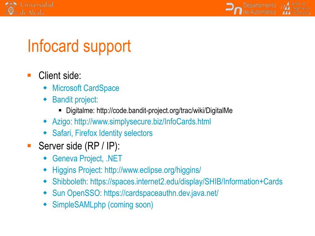 Infocard support