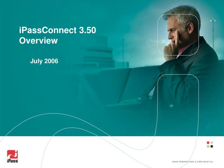 Ipassconnect 3 50 overview