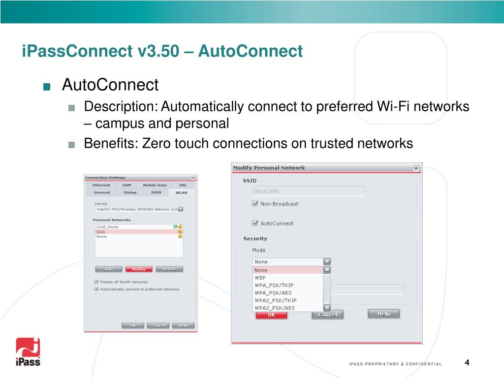 iPassConnect v3.50 – AutoConnect